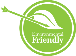 Environmental Friendly logo with archery arrow