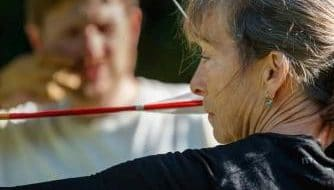 Learning to use an anchor point for archery at Archery Park Nelson