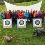 Mapua Women's Recreation Group doing archery