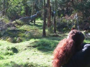 A dinosaur archery 3D target