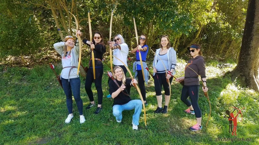 Hens Do group at Archery Park Nelson
