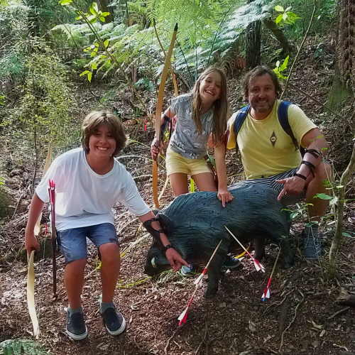 Archery Park Nelson learn hot to shoot lifelike archery targets in realistic environments