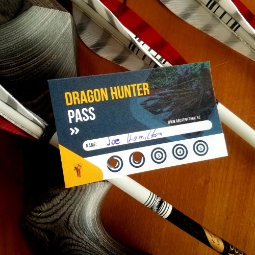 5 trip pass to shoot at Archery Park on your own