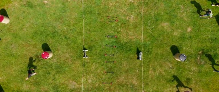 An aerial view of the Archery Battle Playing Field