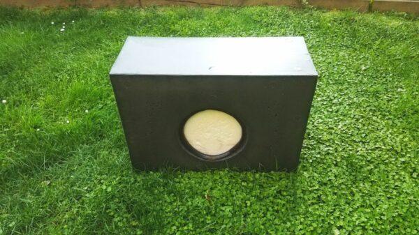 Franzbogen Target block with replaceable core, rear view