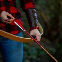 Archery Park Nelson Longbow and arrow close-up